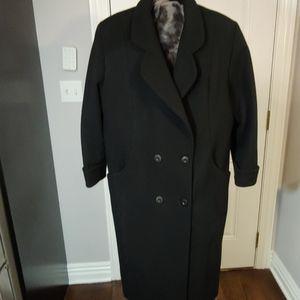 DONNYBROOK WOMEN BLACK COAT SZ 14P
